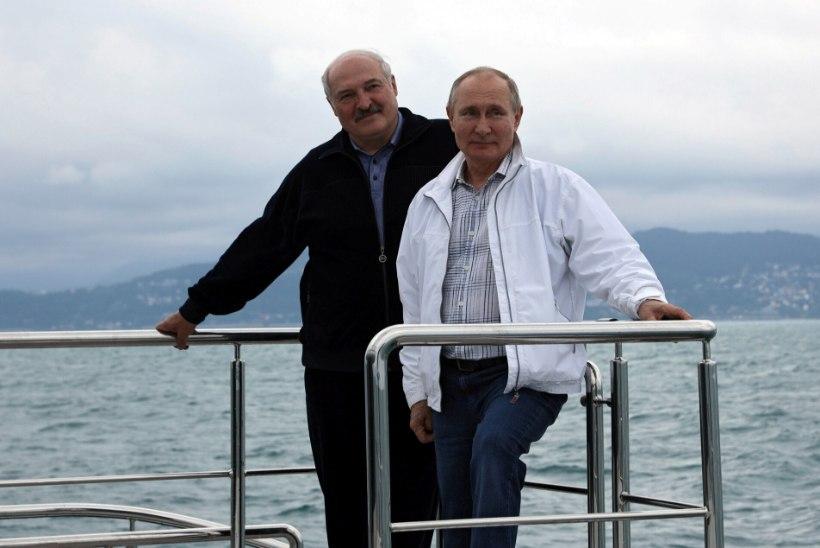 EBATAVALINE KOHTUMINE: Putin ja Lukašenka käisid valge jahiga Lõuna-Venemaal