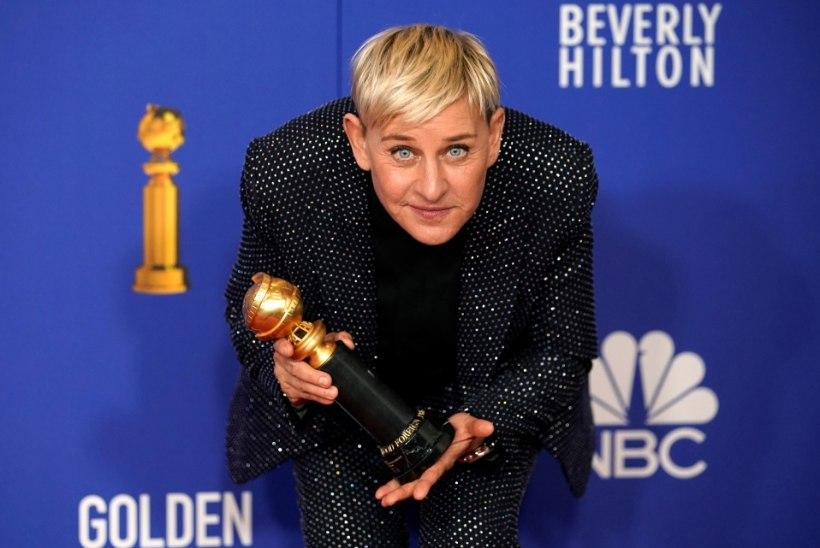 FÄNNID HÄMMINGUS: Ellen DeGeneres kolis Courteney Coxi juurde