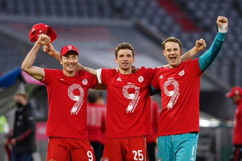 Bayern tähistas järjekordset tiitlit meeleoluka väravapeoga