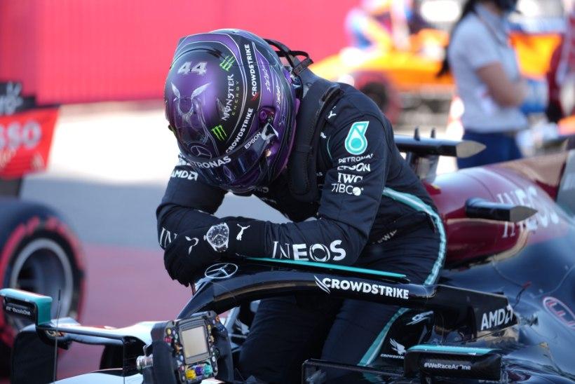 VÕIMAS! Lewis Hamilton teenis karjääri 100. parima stardikoha