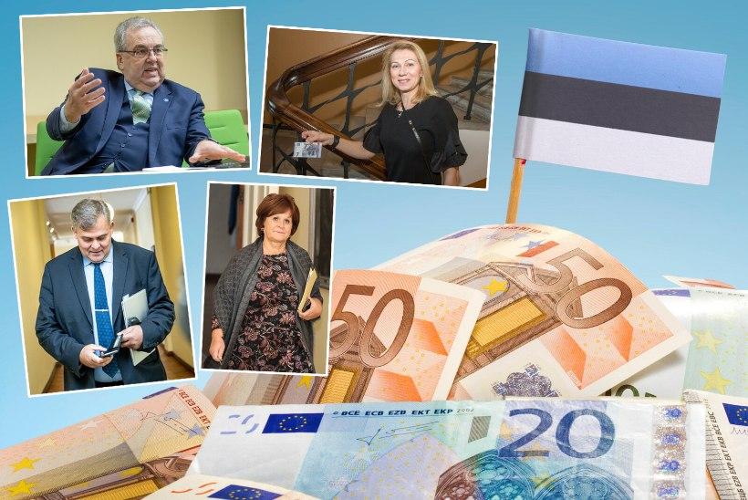 KÕRGETE RIIGITÖÖTAJATE RAHAKOTT: kes teenis mullu pea 10 miljonit eurot? Kelle laen ületab tosina aasta sissetuleku?