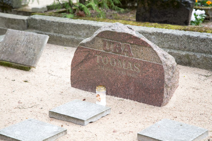 Voldemar Kuslapi kalmukolumn   Rahumäe hauasambad