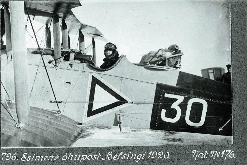 EESTI ESIMENE POSTILEND: lennuväli jäi leidmata, Helsingis maanduti otse südalinnas