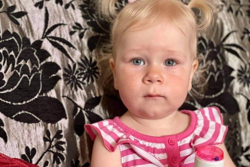 RÕÕMUSTAV PILT: väikesel Desireel on esimesed ravidoosid võetud!