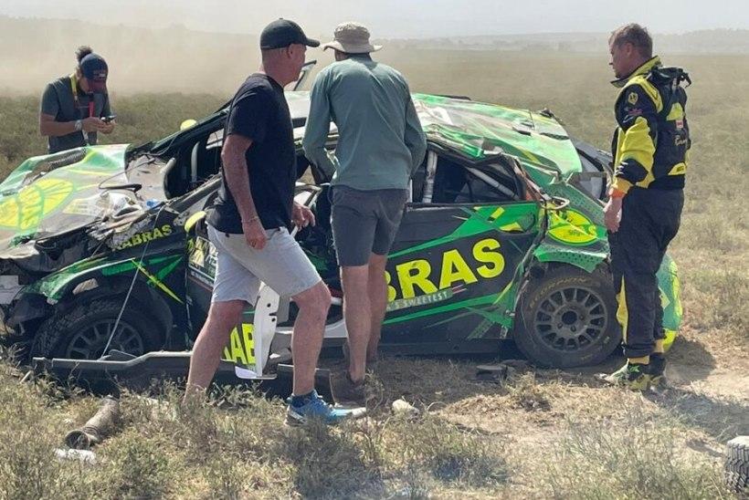 KARM VIDEO   Kohalik sõitja elas Keenia rallil üle hirmsa õnnetuse