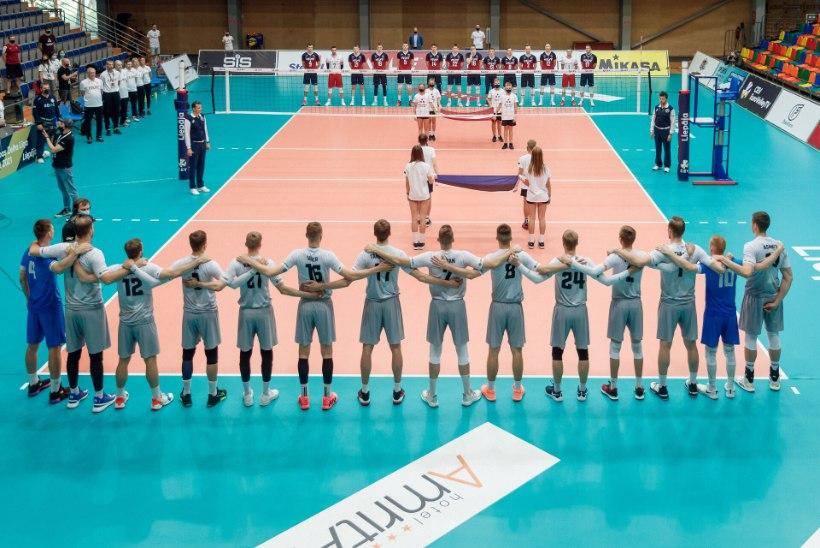 ÕL LIEPAJAS | GALERII | Võrkpallikoondis pani kuldliiga alagrupiturniirile punkti võiduga Läti üle. Abitreener Lüütsepp: võib-olla oli natuke raske end kokku võtta