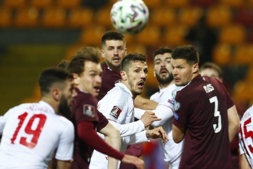 Läti jalgpallur andis positiivse koroonaproovi, mis võib koondise mänguks Eestiga isolatsiooni saata