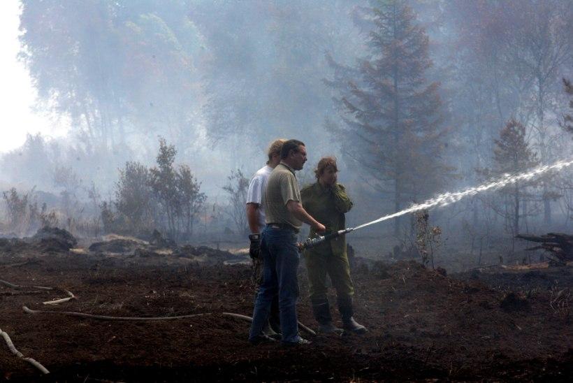 Läänemaal süütas pikselöök 40 hektarit metsa ja raba, päästjatel tuleb palju tööd teha käsitsi