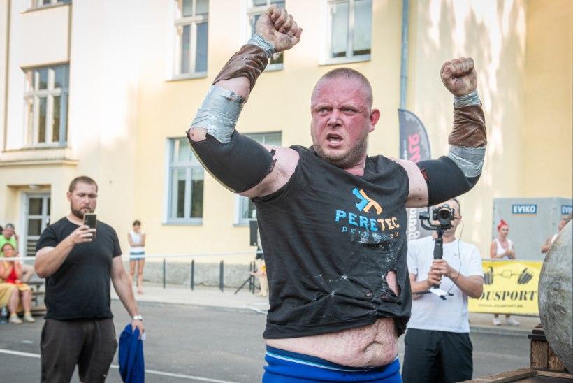 GALERII   Eestimaa rammumehed näitasid lihast ja võtsid omavahel mõõtu