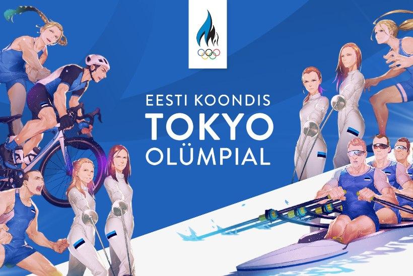 GALERII | PÕNEV! Jaapani kunstnik joonistas Eesti olümpiasportlasi