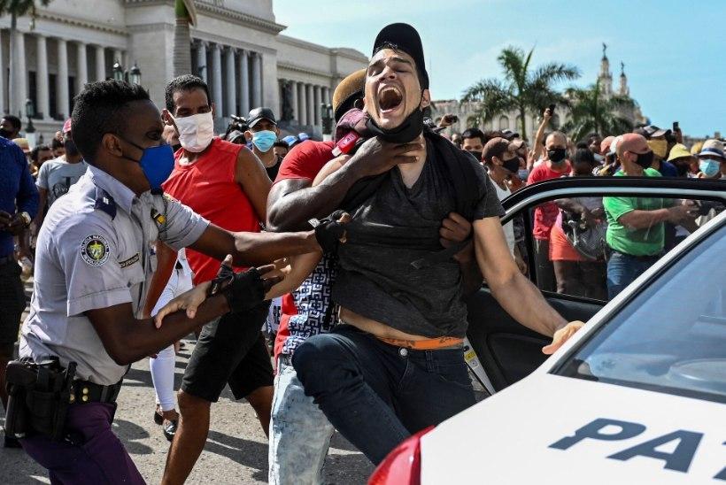 ÜKSKORD PRAHVATAB VIMM: Kuubas puhkesid majandusraskuste ja ainupartei saamatuse tõttu haruldased massirahutused