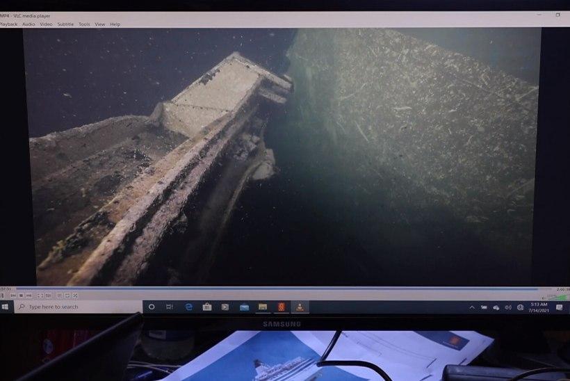 VIDEO JA FOTOD | ŠOKK! POMMAVASTUS! Varasemalt suletuna seisnud Estonia vööriramp lebab hingedelt maas, laevavraki vastas