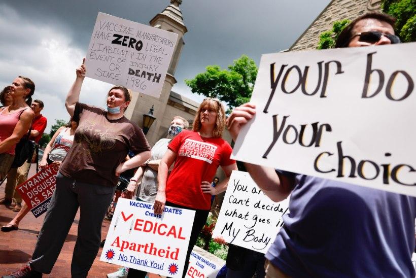 USA nakatumiste uues tõusus võib süüdistada vaktsineerimise suhtes passiivseid osariike