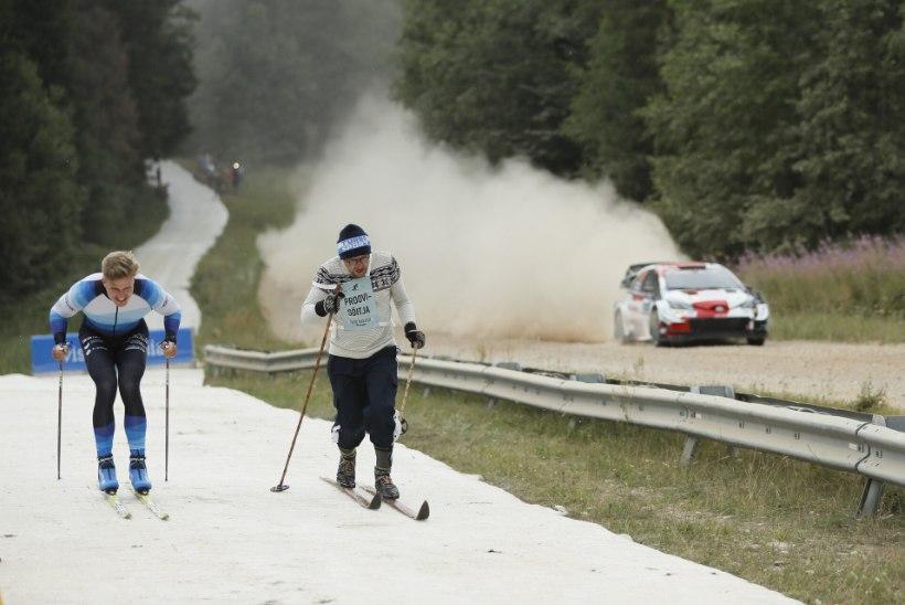 VAHVAD FOTOD | Jüri Muttika suusatas ralliautoga võidu