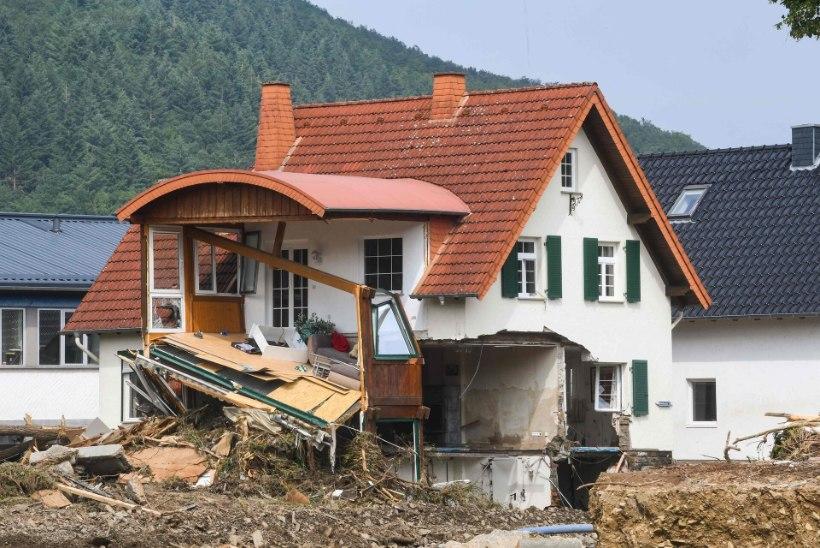 GALERII JA VIDEOD   Saksamaa ja Belgia üleujutustes on hukkunud vähemalt 170  inimest, sajad inimesed on kadunud