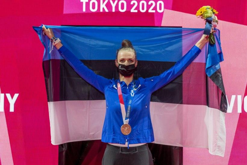SUUR GALERII   Katrina Lehis tõusis neljanda Eesti naisena olümpiamängude poodiumile