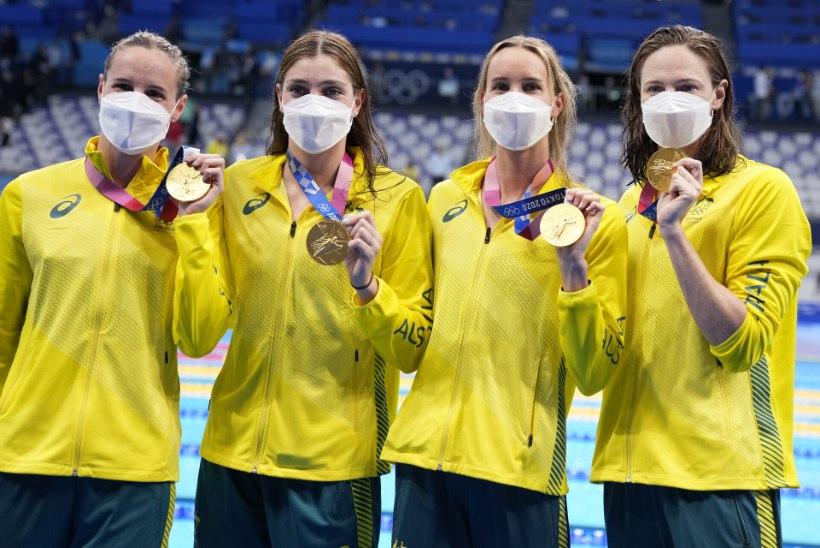 Austraallannad püstitasid Tokyo OMi esimese maailmarekordi