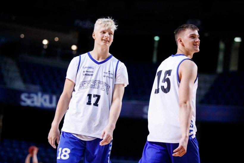 """Korvpallikoondisesse pääsenud Riismaale ja Veesaarele tuli kutse üllatusena. Veesaar: """"See on kaks eri asja, kas pusid omavanustega või Kotsariga."""""""