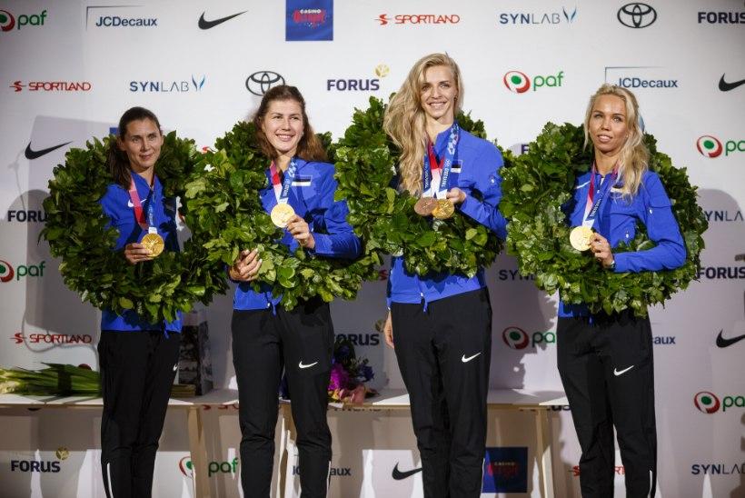 JÄRELEVAADATAV | FOTOD |  EMOTSIOONID VALLA! Kuldsed olümpiasangarid jõudsid tagasi kodumaale!