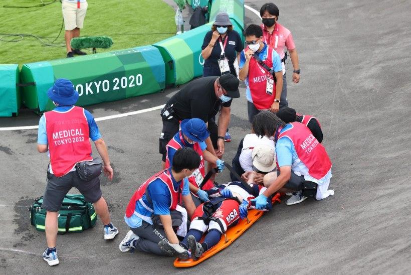 Pahandus: BMX-krossis kukkunud Rio olümpiavõitja viidi haiglasse