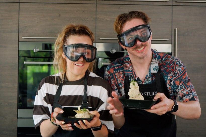 KOOMILINE VIDEO   Kristel Aaslaid ja Mattias Naan valmistavad Taffeli kartulikrõpsudest krõpsuputru… või vähemalt üritavad!