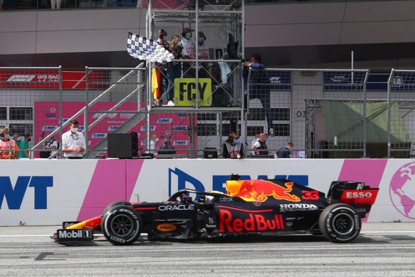 Verstappen teenis kolmanda järjestikuse etapivõidu, Hamilton jäi poodiumilt välja