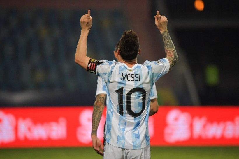 VIDEO   Värava ja 2 söötu kirja saanud Messi vedas Argentina Copa América poolfinaali