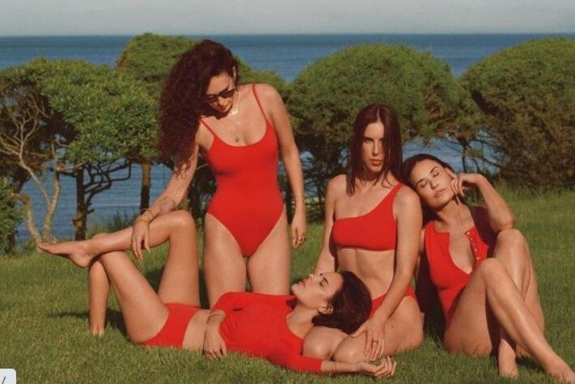 58aastane Demi Moore poseerib koos tütardega seksikatel pesufotodel