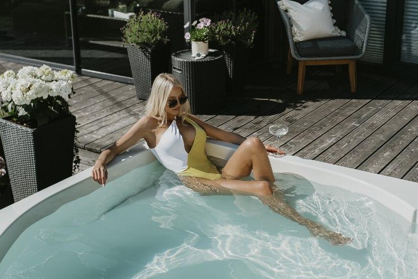 Modell Agne Vaher soovitab: jätka kalorite kulutamist trennijärgselt terrassivannis lõõgastudes