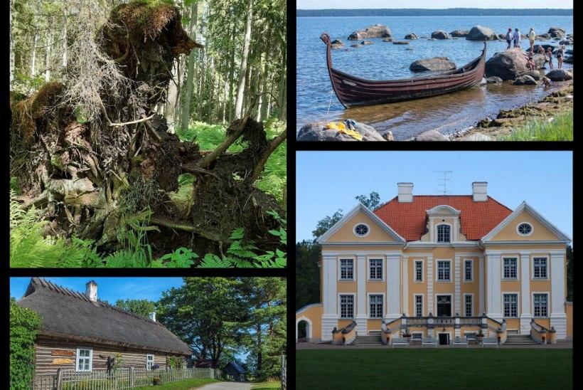 LAHEMAA RAHVUSPARGI PÄRLID: metsad, mõisad ja meri