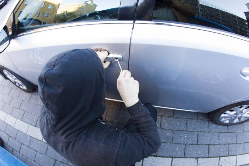 Politsei tabas Lasnamäel tegutsenud varga, kes pargitud autodest tuhandete eurode väärtuses kraami näppas
