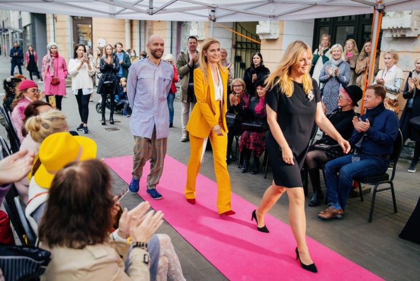 GALERII | Roosikrantsi ärid tähistasid tänava avamist roosade vaipade ja boheemlasliku atmosfääriga
