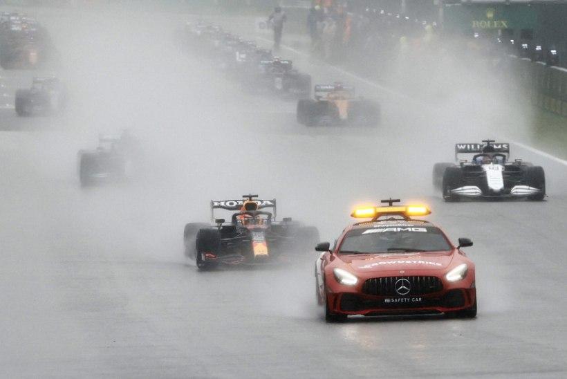 """AJALOO LÜHIM GP! Belgia """"võidusõit"""" oli vaid paar ringi turvaauto taga kulgemist"""