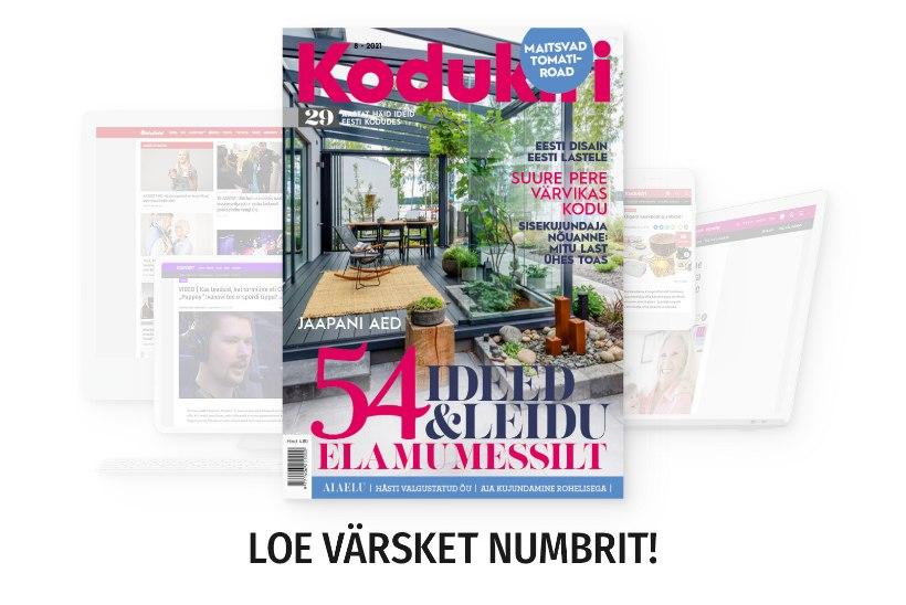 SELLE KUU AJAKIRJAS | Augusti Kodukirjas saab heita pilgu Soome elamumessile, põnevatele aedadele ja kodudele