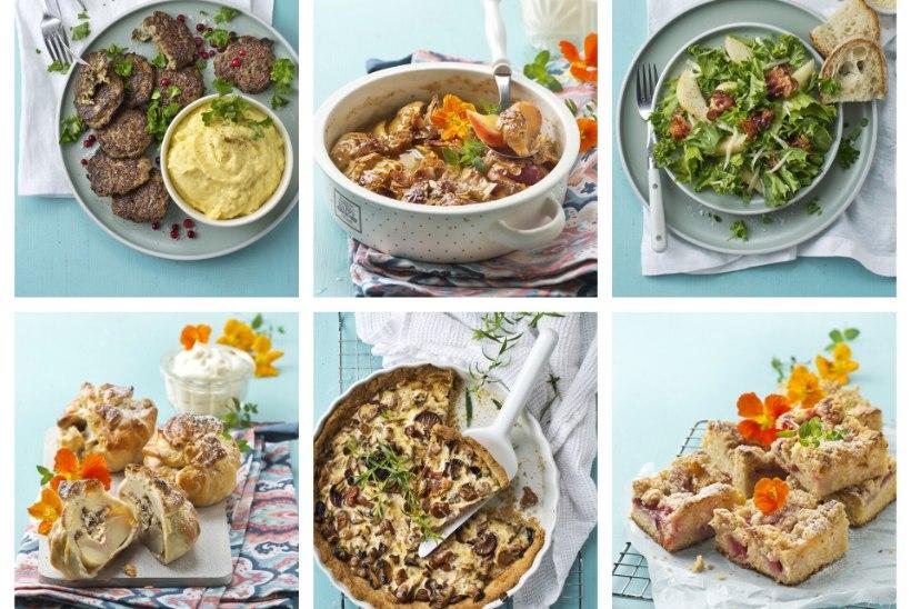 LIHTSAD, ENT PEENED MAITSED | Pirnisalat, seene-õunapirukas, pardifilee ploomikastmes, õuna-maksapihvid ja mitu maitsvat kooki