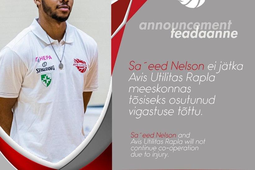 Rapla korvpallimeeskonna ja Sa'eed Nelsoni koostöö ei jätku!