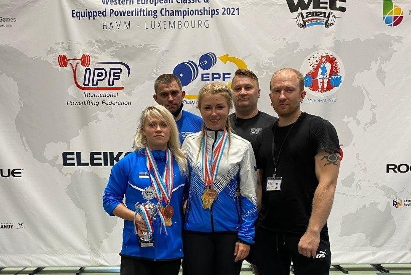Eesti naisjõutõstjad võitsid Lääne-Euroopa meistrivõistlustel kaks kulda