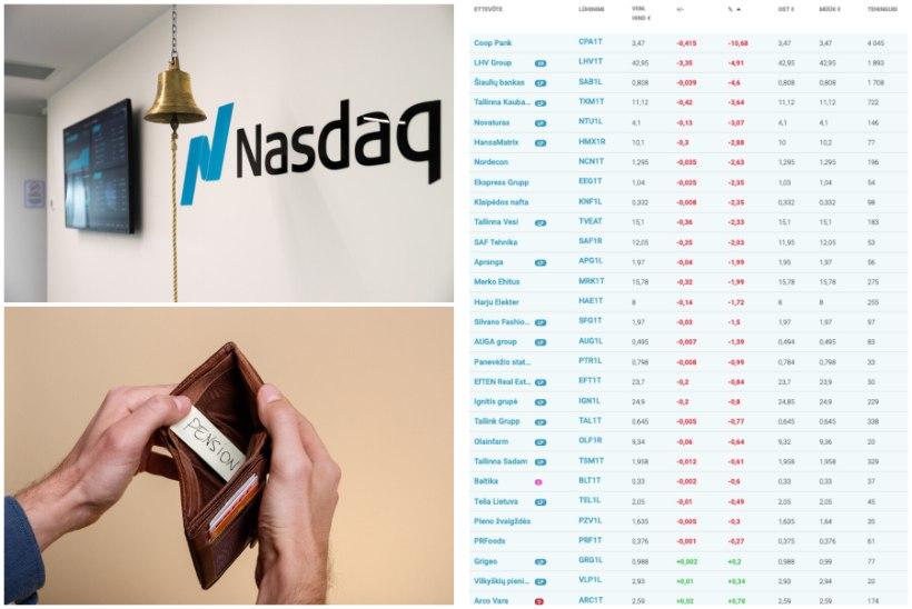 BALTI BÖRS ON PUNANE! Miks kiiresti lakke hüpanud aktsiahinnad nüüd kolinal kukuvad?