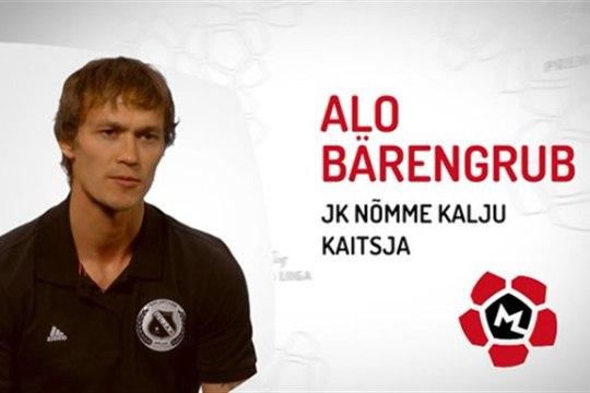 Kes on Nõmme Kalju kaitsja Alo Bärengrubi lemmikuim jalgpallikommentaator?