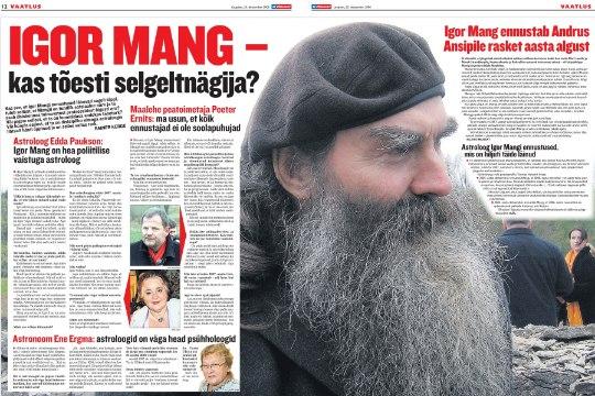 VANA HITT   Igor Mang – kas tõesti selgeltnägija?