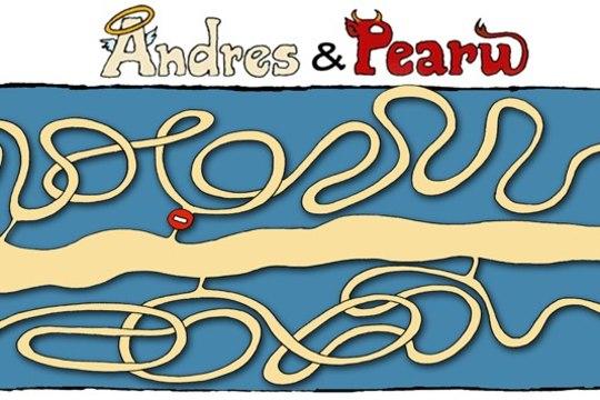 """PILTUUDIS: Õhtulehe veebikoomiks """"Andres ja Pearu"""" sai karikatuurivõistlusel auhinnalise koha"""