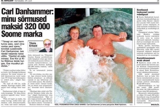 VANA HITT | Carl Danhammer: minu sõrmused maksid 320 000 Soome marka