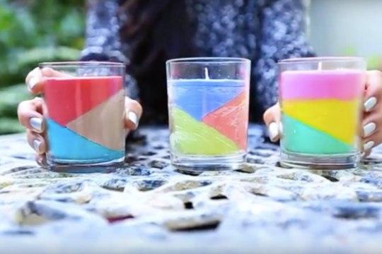 Tee ise: värvilistest kriitidest küünal