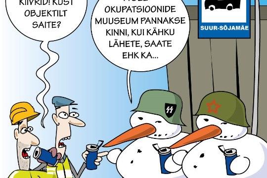 Karikatuur | Okupatsioonimuuseum astub ellu
