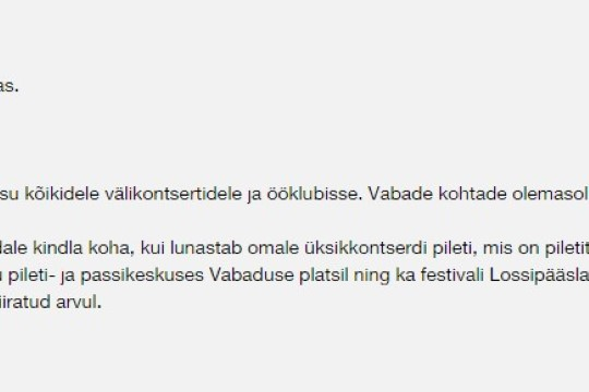 Muudatus Folgi passiga ärritas pikaajalist festivalikülalist: Viljandi Folk tegi tünga