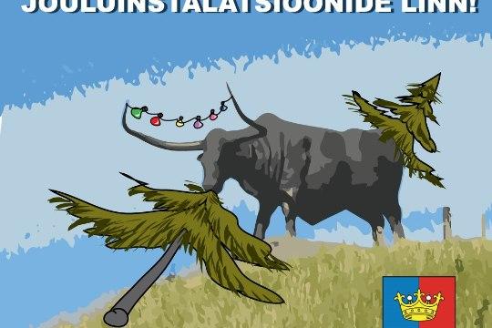 Karikatuur   Hea lugeja, vaata sinagi Rakvere jõulupuud!