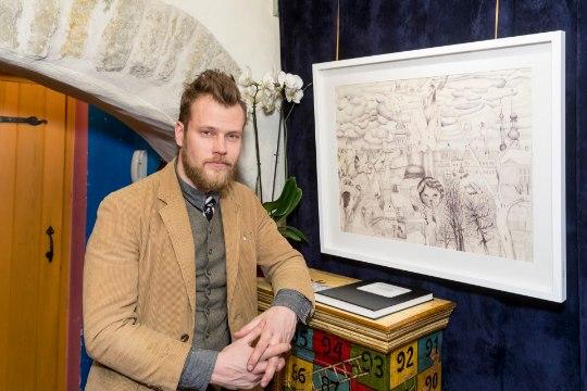 PILDID   Kunstnik Martin Saar tõi esimest korda avalikkuse ette oma joonistused