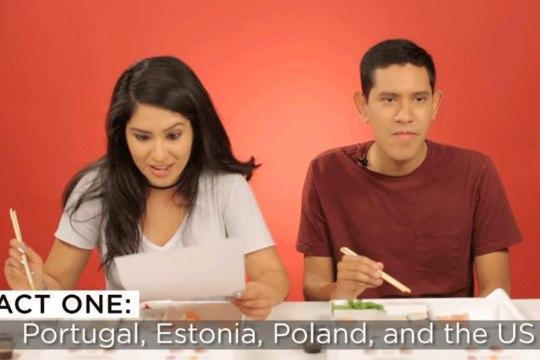 VIDEO | Uudis lõhe väljasuremisohust Eestis viis BuzzFeedi katsejänestelt sushiisu
