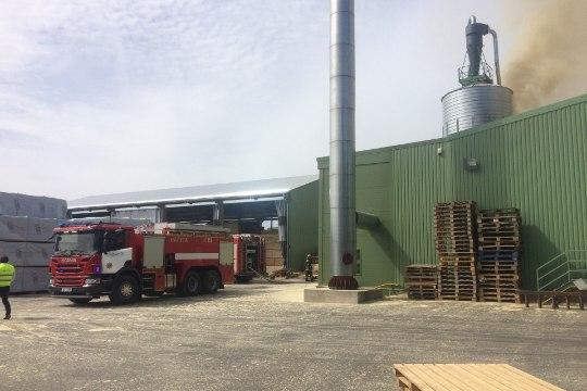 Viljandimaal põleb puidutehas