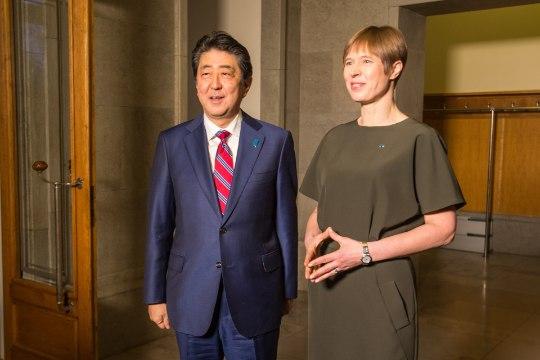 GALERII JA VIDEO   President Kersti Kaljulaid kohtus Jaapani peaministriga